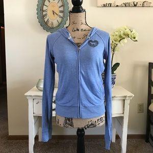 Blue Victoria's Secret PINK zip-up sweatshirt